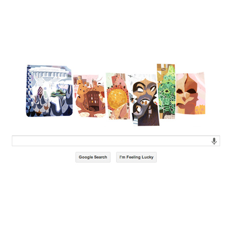 Google doodle celebrates Antoni Gaudí's 161st birthday