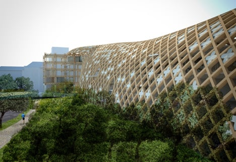 Headquarters for Swatch and Omega by Shigeru Ban