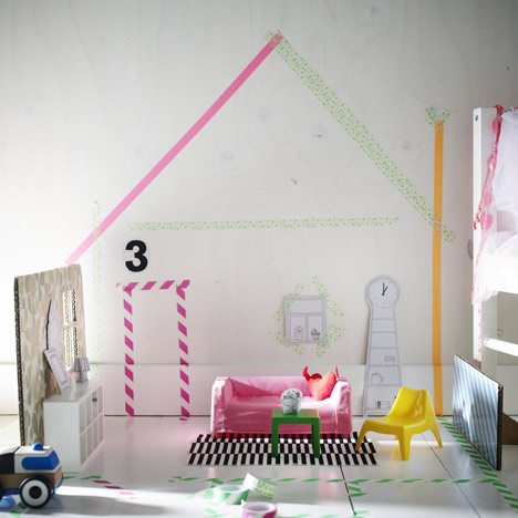 dezeen_Ikea launches furniture for dolls houses_2