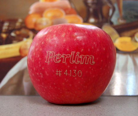 Laser tattoos to replace sticky labels on fruit