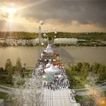 OMA proposes bridge with pedestrian boulevard for Bordeaux