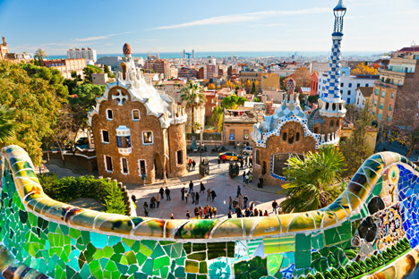 Park Guell by Gaudi from Shutterstock