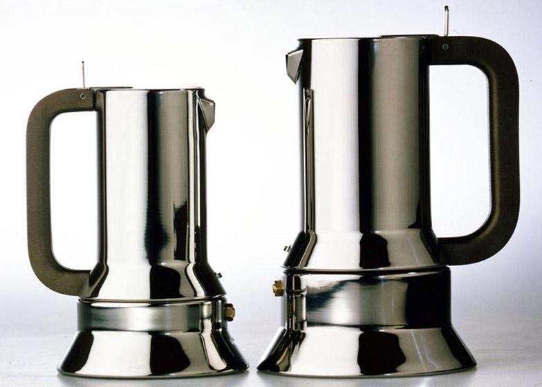 9090 espresso coffee maker, Alessi, 1978: photograph by Aldo Ballo