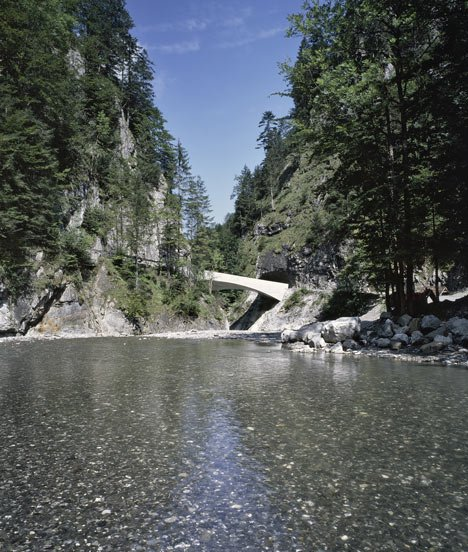 Schanerloch Bridge by Marte Marte Architects