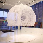 Silkworms and robot work together to weave Silk Pavilion