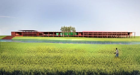 dezeen_Silk weaving facility by David Adjaye_1