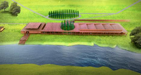 Silk weaving facility by David Adjaye