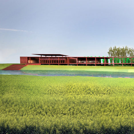 Silk weaving facility by David Adjaye
