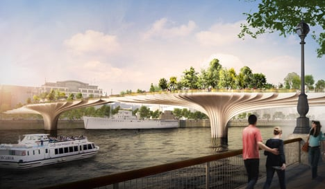 dezeen_Thomas Heatherwick reveals garden bridge across the Thames_1