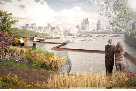 dezeen_Thomas Heatherwick reveals garden bridge across the Thames_2