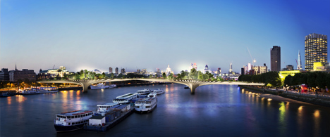 dezeen_Thomas Heatherwick reveals garden bridge across the Thames_3