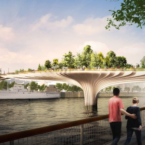 Thomas Heatherwick reveals garden bridge designed for River Thames