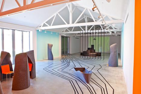 Voyage to Uchronia by Matali Crasset at Galerie Thaddaeus Ropac