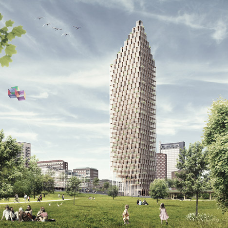 C. F. Møller designs world's tallest wooden skyscraper