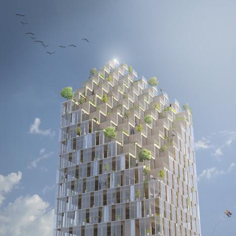 Rascacielos de madera de CF Møller