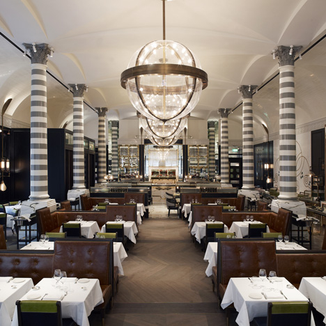 Massimo restaurant and oyster bar by David Collins