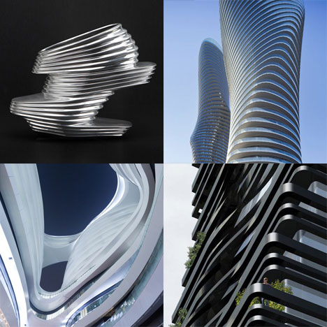 Dezeen archive: striations in architecture and design