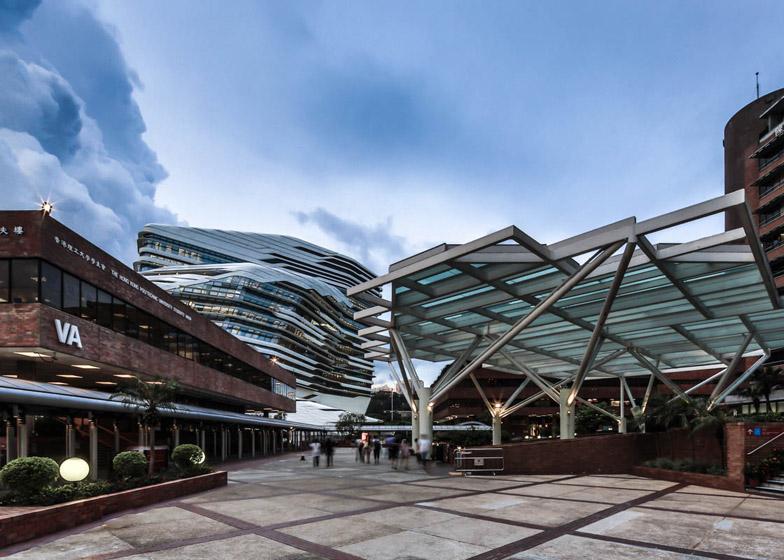 Innovation Tower at Hong Kong Polytechnic University by Zaha Hadid Architects. Image copyright Edmon Leong.