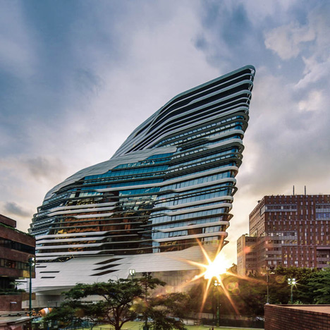 Innovation Tower at Hong Kong Polytechnic University by Zaha Hadid Architects. Image copyright Edmon Leong.