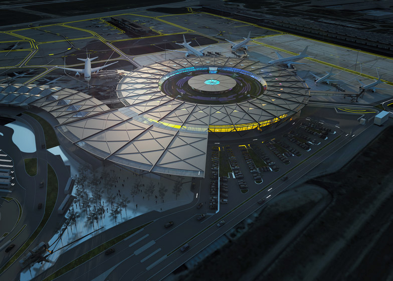 Future Terminal 1 project at Lyon-Saint Exupéry Airport by Rogers Stirk Harbour + Partners