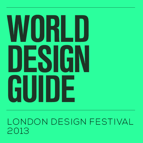 World Design Guide: London Design Festival map 2013