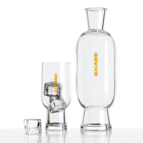 Carafe and glass by Mathieu Lehanneur for Ricard