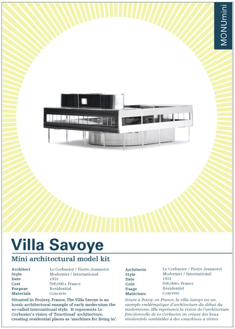 Competition: five Centre Pompidou and Villa Savoye kits to be won