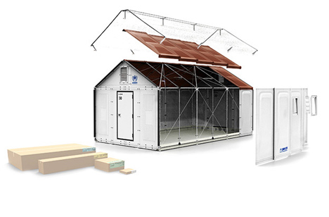 ikea develops flatpack refugee shelters
