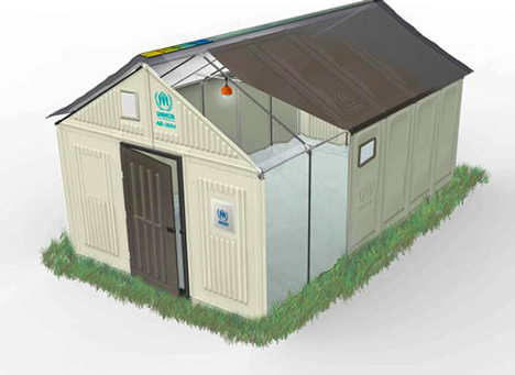 Ikea develops flat-pack refugee shelters