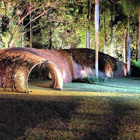 Rattan Tunnel at Bacanalia by Natalia Ortega Gámez and Jose Thén