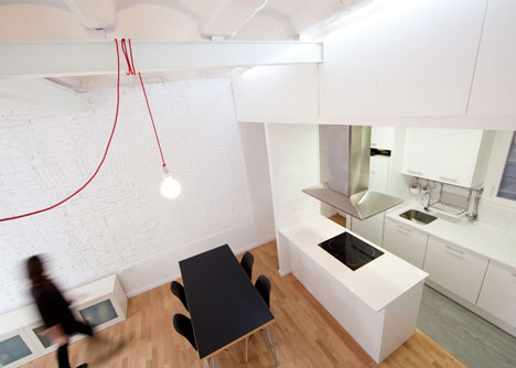 Renovated apartment in Raval, Barcelona by Eva Cotman