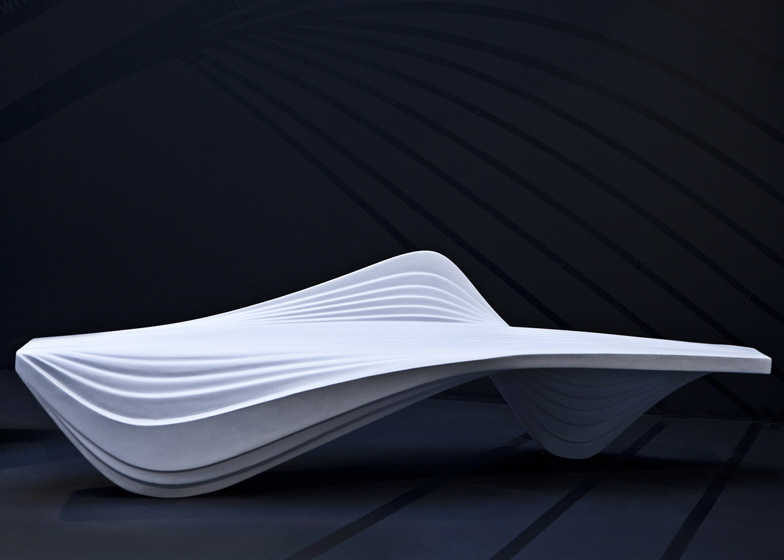 Serac Bench by Zaha Hadid