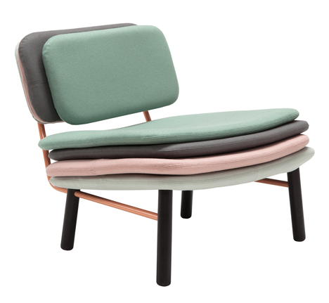 Stack chair by Skrivo based on The Princess and the Pea