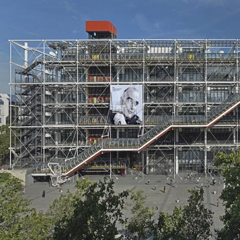 Centre Pompidou in Paris by Richard Rogers and Renzo Piano