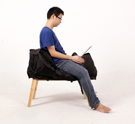 The Holding-breath Chair by Ray Jiao & Yi Wang