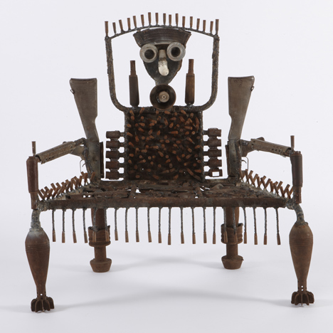 When I get Green furniture made of guns by Gonçalo Mabunda at Jack Bell Gallery