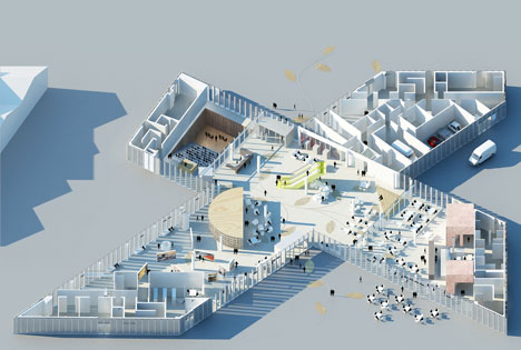 Work starts on OMA-designed library in Caen, France