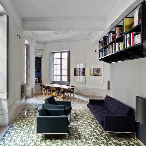 Dezeen archive: floor tiles in Barcelona apartments