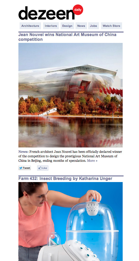 Dezeen Daily issue 1