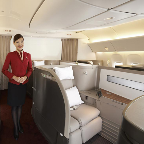Foster + Partners Cathay Pacific First Class cabin