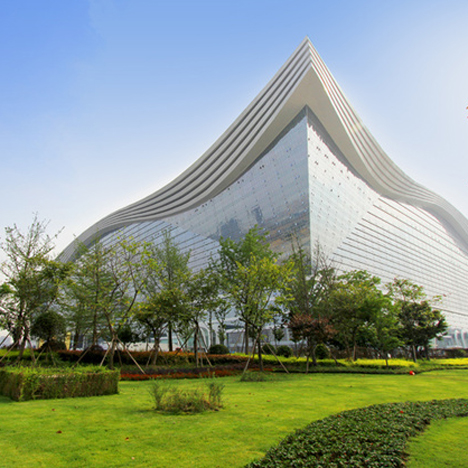 New Century Global Center opens in China