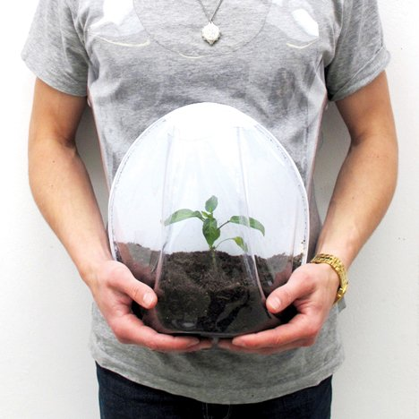 Plant pregnancy bag by Alice Kim