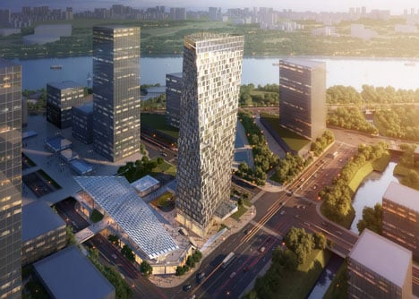 Aedas to design Xuhui Binjian Media City 188S-G-1 Tower and Podium in China
