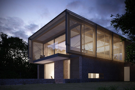 Farthings house render by Henry Goss Architects