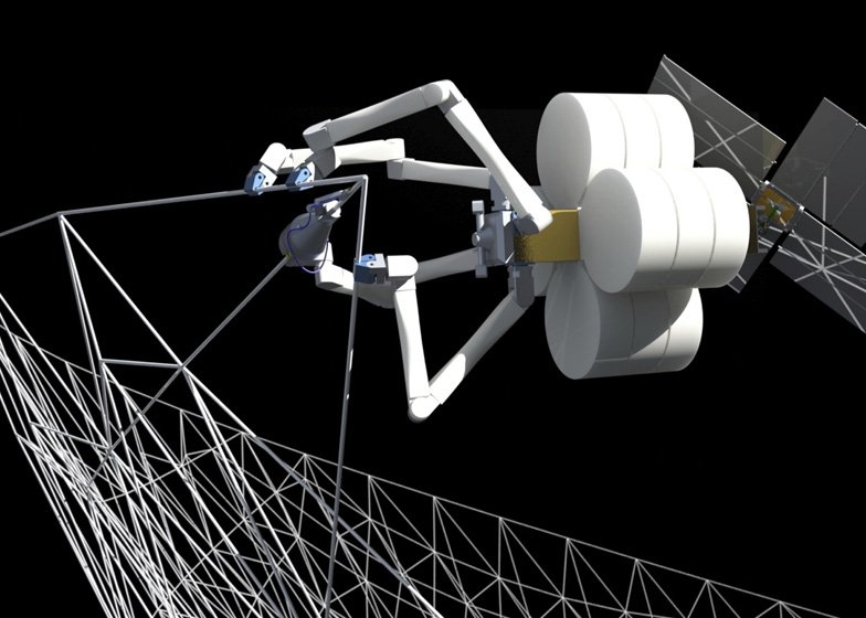 SpiderFab 3D-printing in space