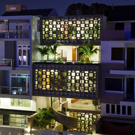 Binh Thanh Housem Vietnam, by Vo Trong Nghia Architects + Sanuki Nishizawa Architects