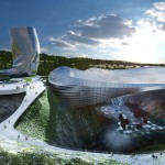 Coop Himmelb(l)au plans sports resort for abandoned Chinese quarry