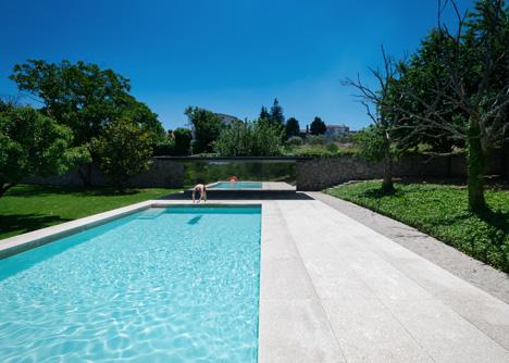 Swimming Pool in Chamusca da Beira by Joao Mendes Ribeiro