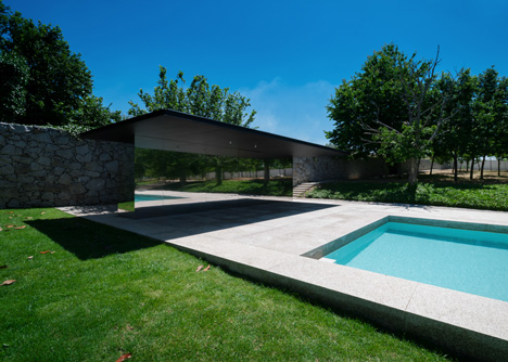 Swimming Pool in Chamusca da Beira by Joao Mendes Ribeiro