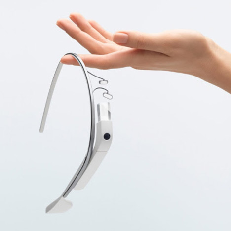 The original Google Glass frame, launched in 2013, designed by Isabelle Olsson's team